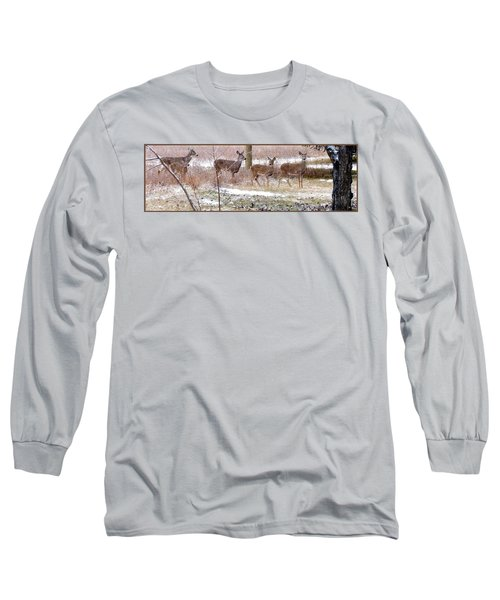 A Dusting On The Deer Long Sleeve T-Shirt