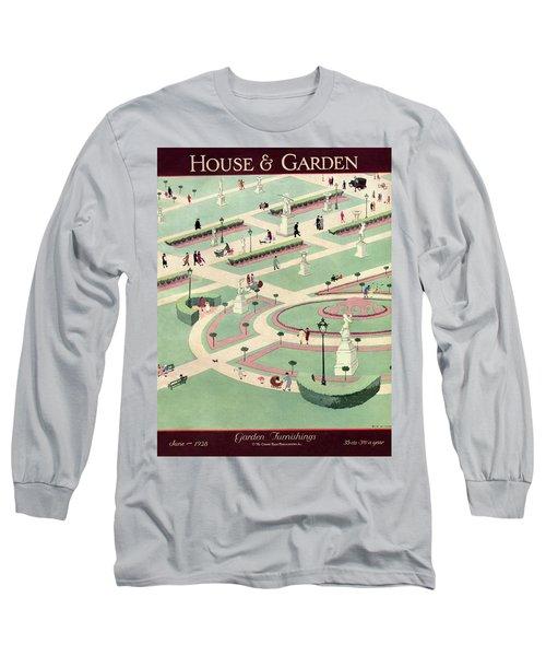 A Formally Designed Park Long Sleeve T-Shirt