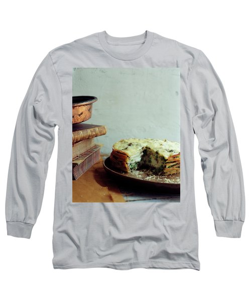 A Gourmet Torte Long Sleeve T-Shirt by Romulo Yanes
