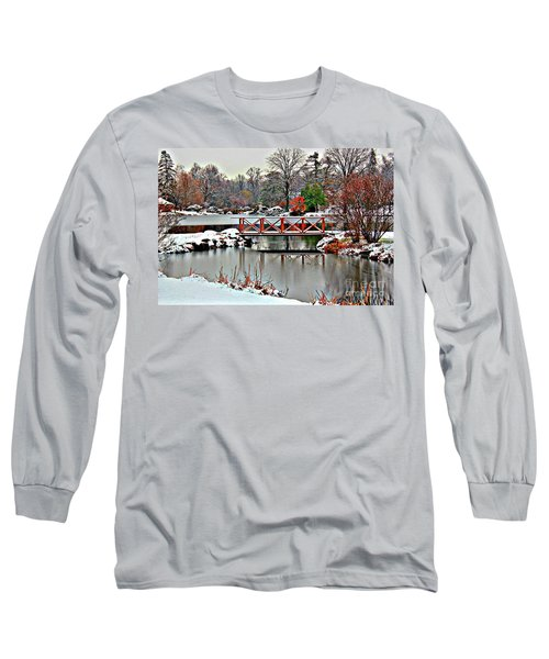 Long Sleeve T-Shirt featuring the photograph A Light Dusting Of Snow by Judy Palkimas