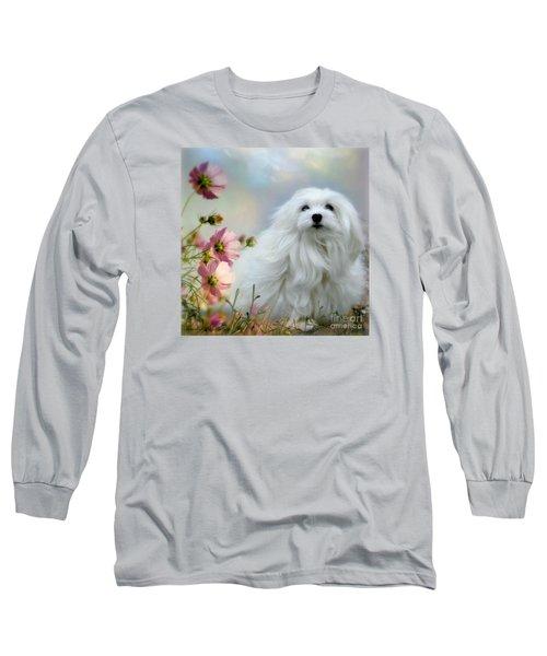A Soft Summer Breeze Long Sleeve T-Shirt by Morag Bates