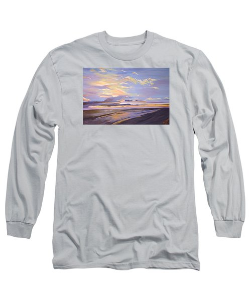 Long Sleeve T-Shirt featuring the painting A South Facing Shore by Donna Blossom