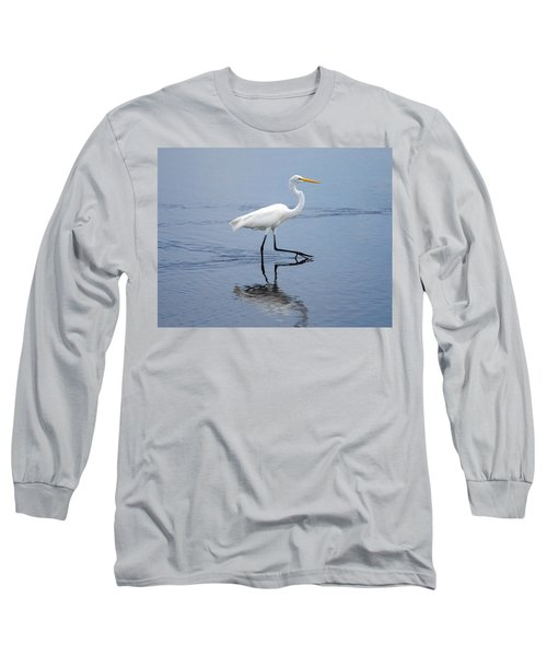 Long Sleeve T-Shirt featuring the photograph A Stroll In The Marsh by John M Bailey