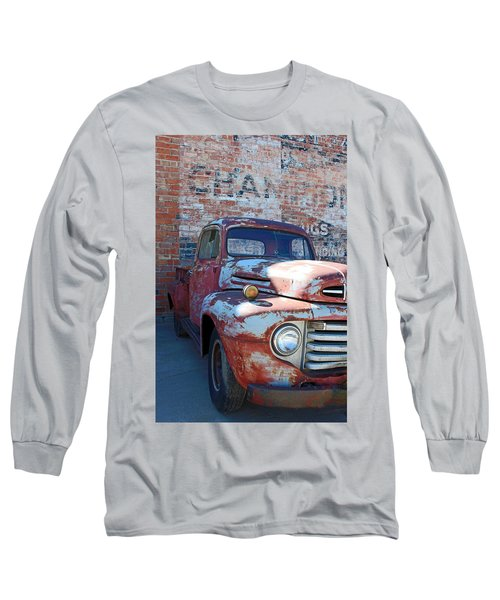 A Truck In Goodland Long Sleeve T-Shirt by Lynn Sprowl