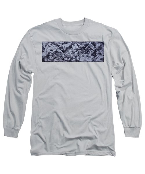 Long Sleeve T-Shirt featuring the painting A View by Erika Chamberlin