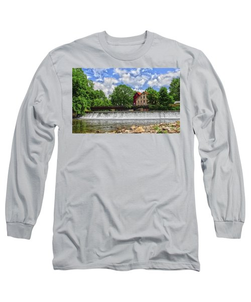 Long Sleeve T-Shirt featuring the photograph A View Of The Mill From The River by Debra Fedchin