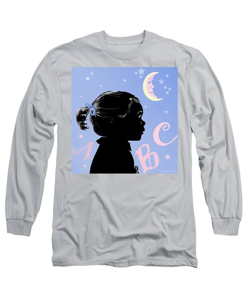 Long Sleeve T-Shirt featuring the painting Abc - The Moon And Me by Carol Jacobs