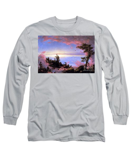 Above The Clouds At Sunrise By Frederick Edwin Church Long Sleeve T-Shirt