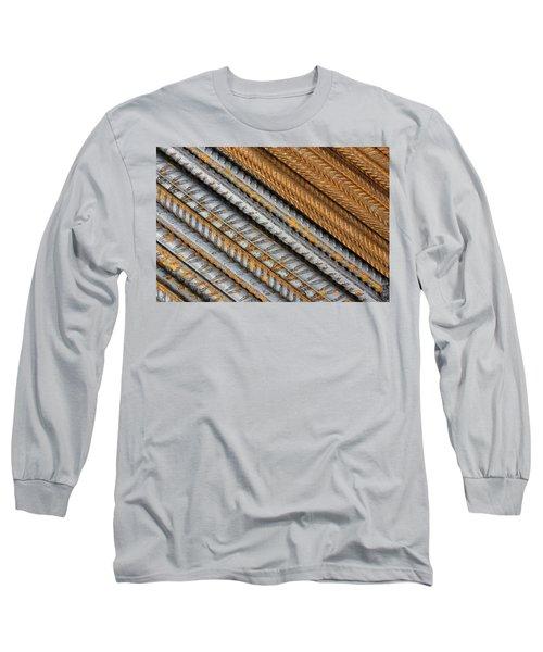Abstract Metal Texture Pattern Long Sleeve T-Shirt
