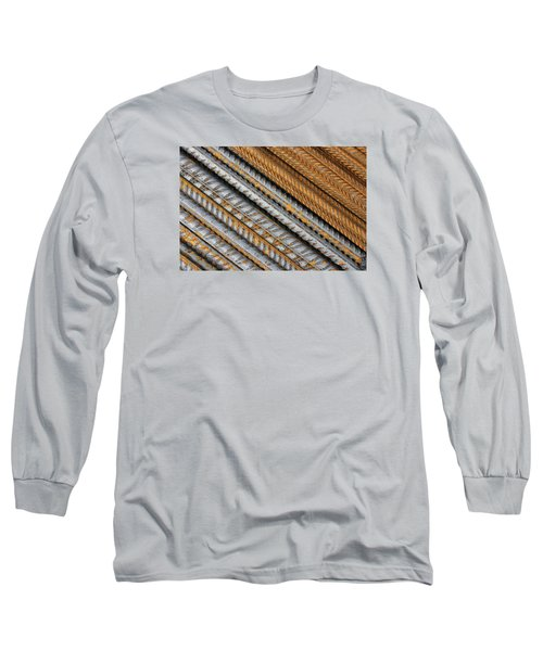 Abstract Metal Texture Pattern Long Sleeve T-Shirt