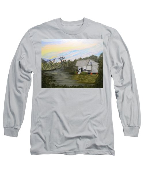 Acadian Home On The Bayou Long Sleeve T-Shirt