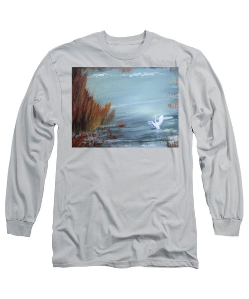 Achieving Stillness  Long Sleeve T-Shirt by Laurianna Taylor