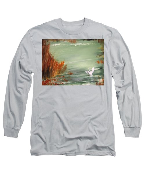 Achieving Stillness2 Long Sleeve T-Shirt by Laurianna Taylor