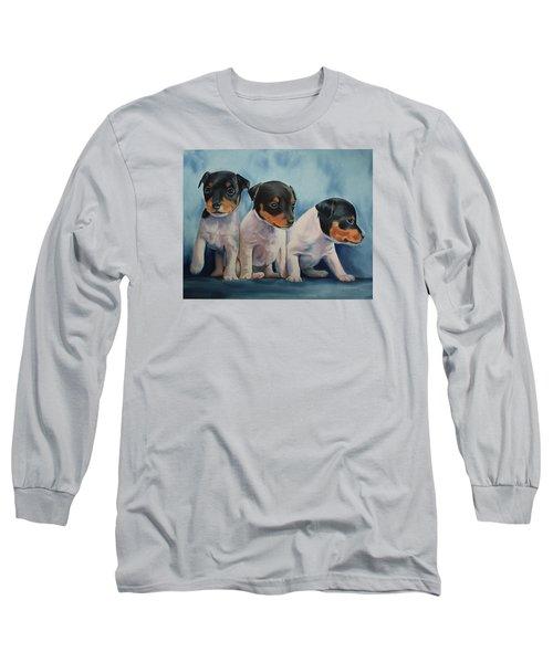Adorable In Triplicate Long Sleeve T-Shirt