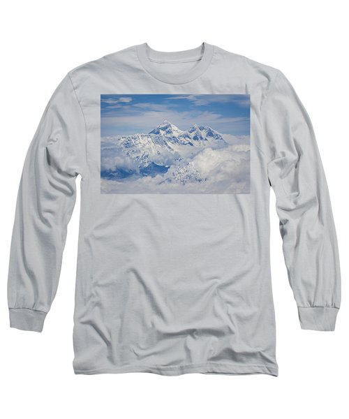 Aerial View Of Mount Everest Long Sleeve T-Shirt