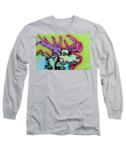 Long Sleeve T-Shirt featuring the painting After Midnight by Nicole Gaitan