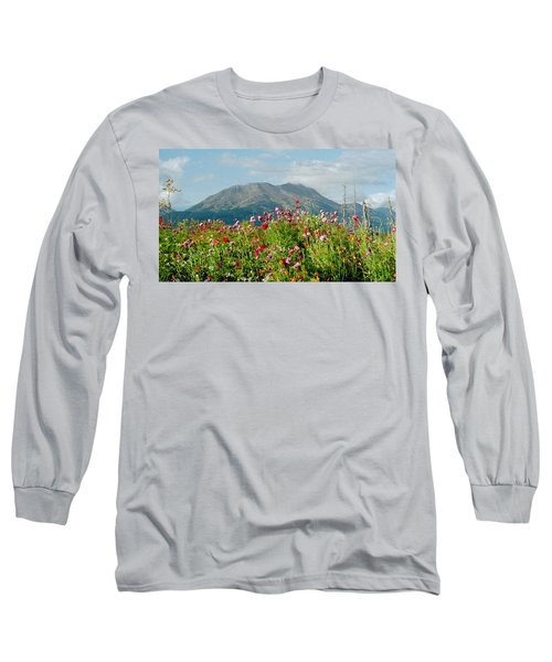 Alaska Flowers In September Long Sleeve T-Shirt
