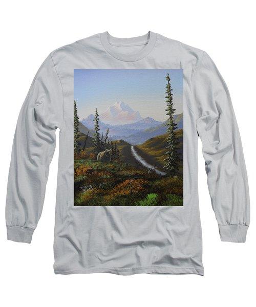 Long Sleeve T-Shirt featuring the painting Alaskan Brown Bear by Richard Faulkner