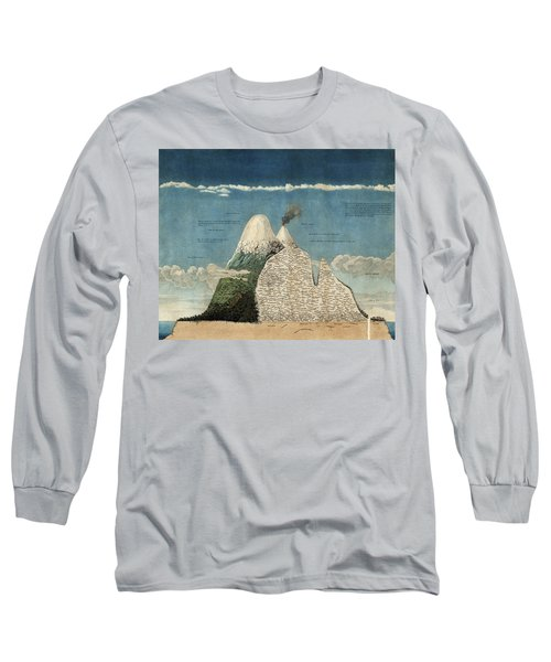 Alexander Von Humboldts Chimborazo Map Long Sleeve T-Shirt
