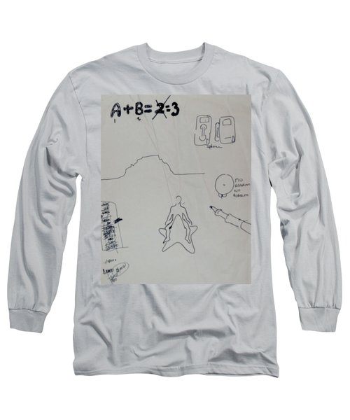 Long Sleeve T-Shirt featuring the drawing Algebra by Erika Chamberlin