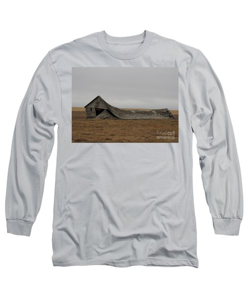 Long Sleeve T-Shirt featuring the photograph All That Remains by Ann E Robson