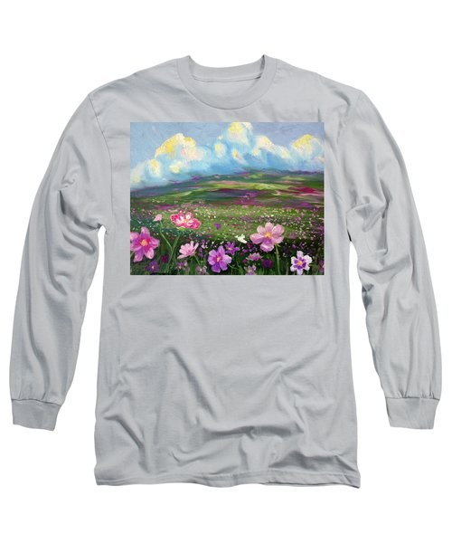 Long Sleeve T-Shirt featuring the painting All Things by Meaghan Troup