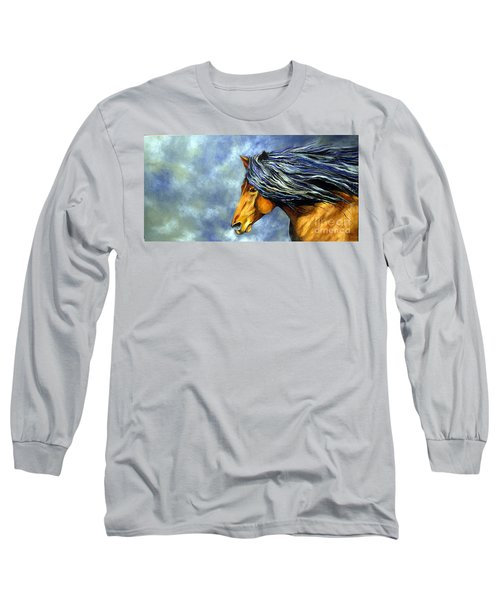 Long Sleeve T-Shirt featuring the painting Almanzors Glissando  by Alison Caltrider