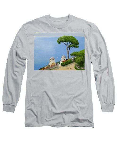 Amalfi Coast From Ravello Long Sleeve T-Shirt by Mike Robles