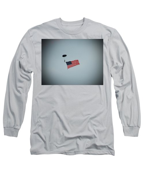 American Flag In The Sky Long Sleeve T-Shirt