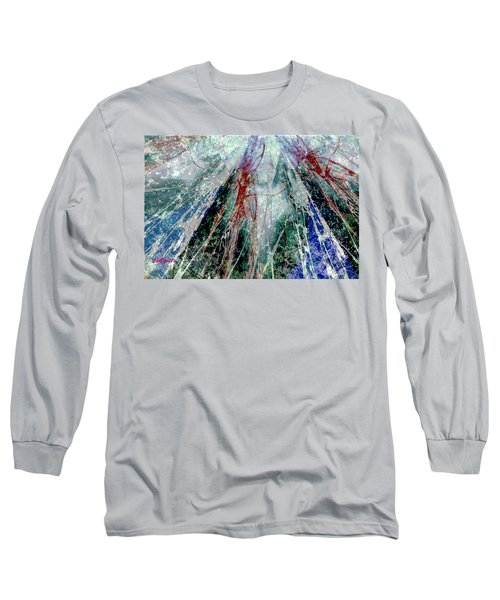 Amid The Falling Snow Long Sleeve T-Shirt by Seth Weaver