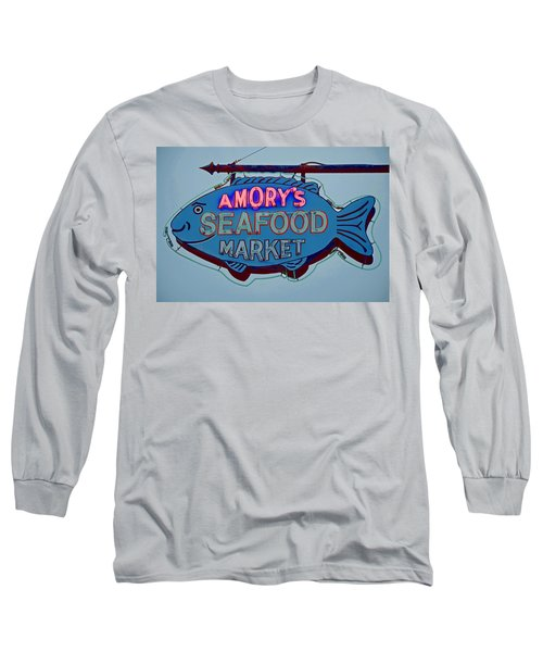 Amory Seafood Sign Long Sleeve T-Shirt