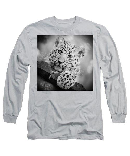 Amur Leopard Cub Portrait Long Sleeve T-Shirt