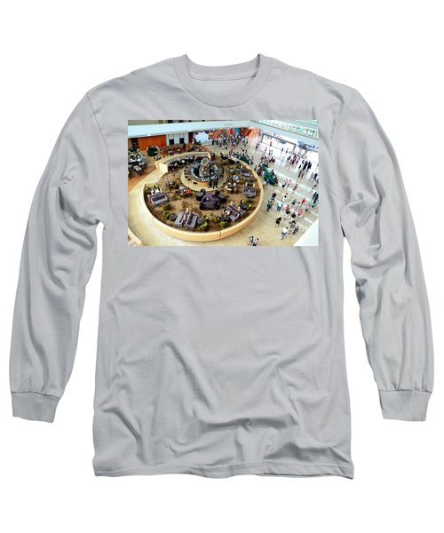 An Aerial View Of The Marina Bay Sands Hotel Lobby Singapore Long Sleeve T-Shirt