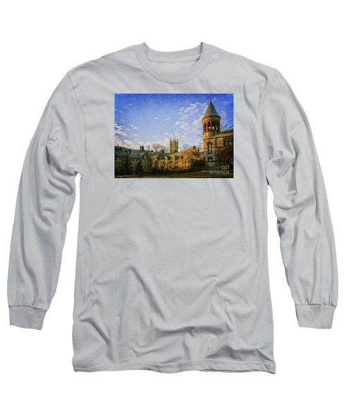 An Afternoon At Princeton Long Sleeve T-Shirt by Debra Fedchin