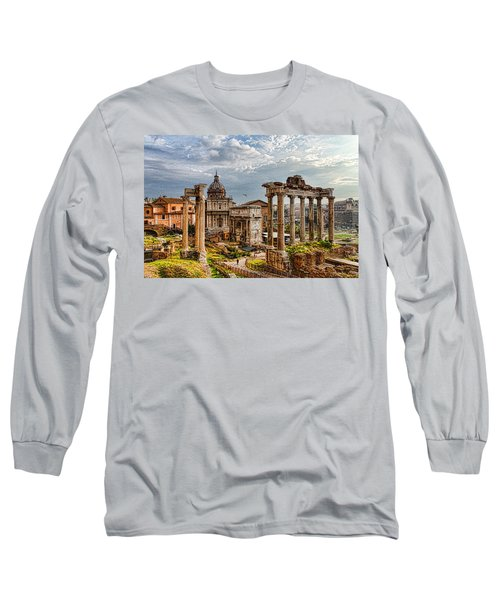 Ancient Roman Forum Ruins - Impressions Of Rome Long Sleeve T-Shirt
