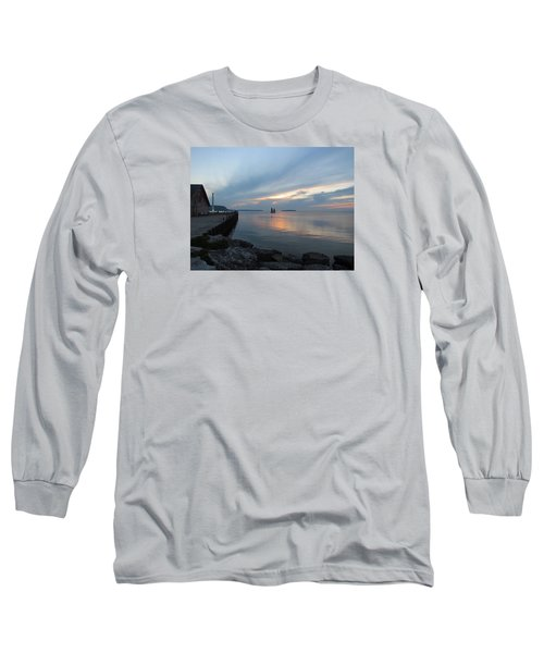 Anderson Dock Sunset Long Sleeve T-Shirt by David T  Wilkinson