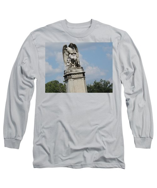 Long Sleeve T-Shirt featuring the photograph Angel Made From Stone by Aaron Martens