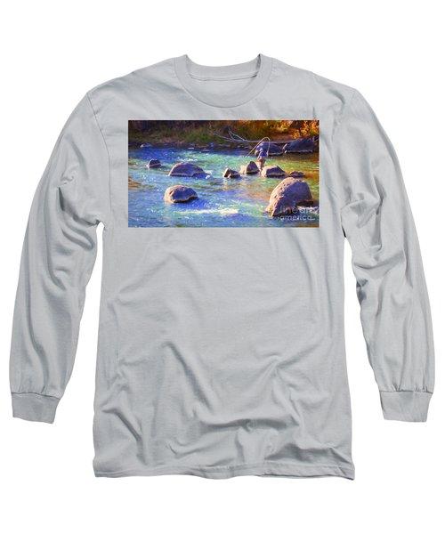 Animas River Fly Fishing Long Sleeve T-Shirt