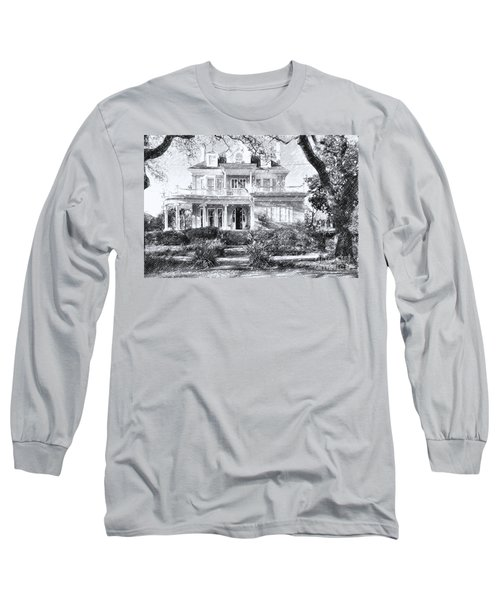 Anthemion At 4631 St Charles Ave. New Orleans Sketch Long Sleeve T-Shirt