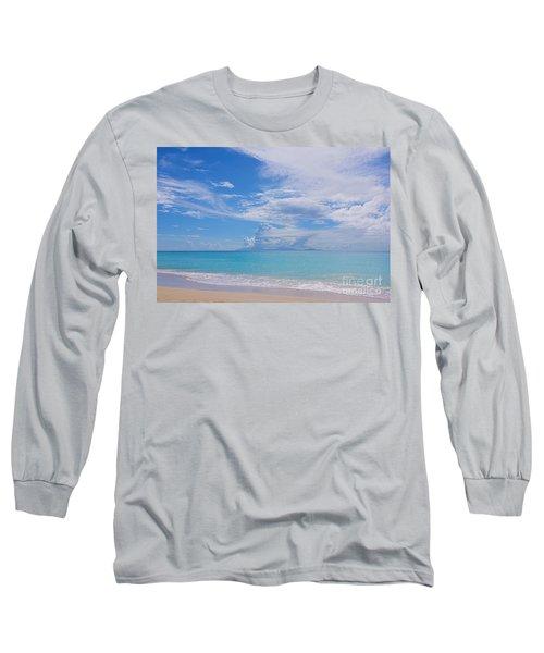 Antigua View Of Montserrat Volcano Long Sleeve T-Shirt