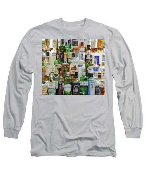 Anyone For A Drink Long Sleeve T-Shirt by Maj Seda