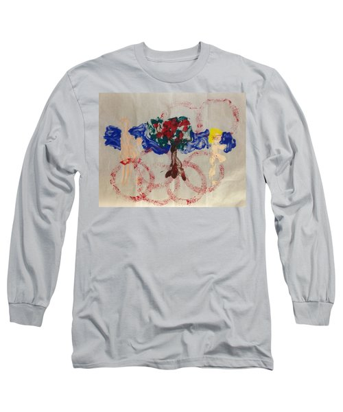 Long Sleeve T-Shirt featuring the painting Apple Rings by Erika Chamberlin