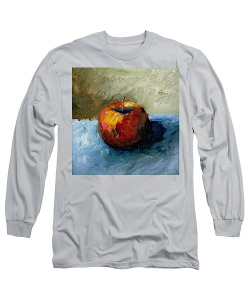 Apple With Olive And Grey Long Sleeve T-Shirt