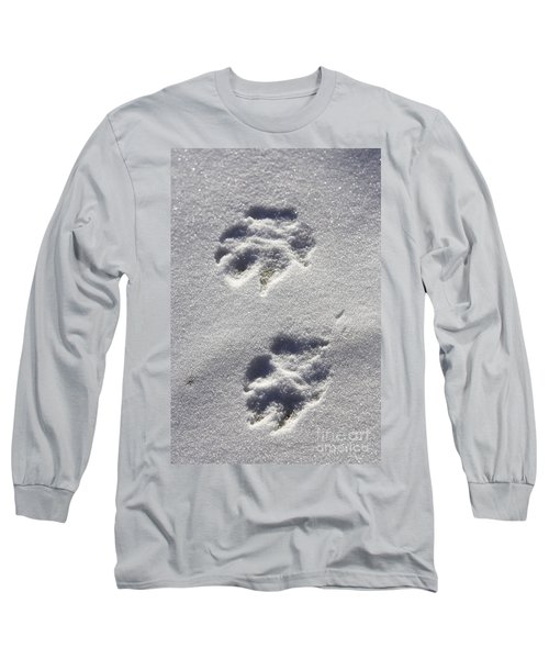 Arctic Wolf Tracks Long Sleeve T-Shirt