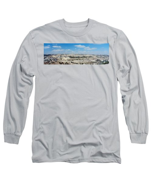 Ariel View Of The Western Wall Long Sleeve T-Shirt