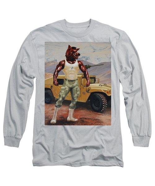 Arkansas Soldier Long Sleeve T-Shirt