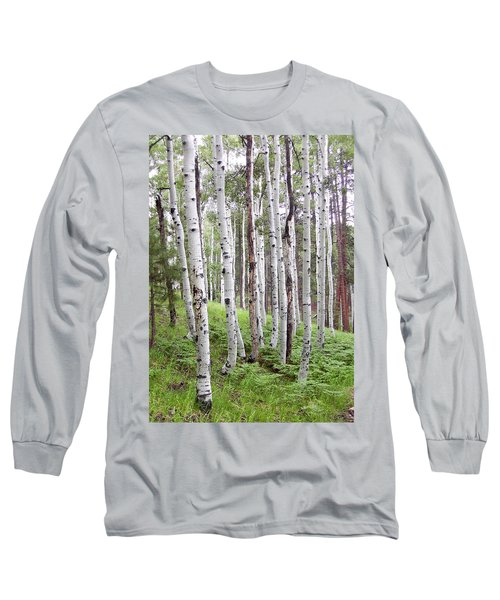 Aspen Forest Long Sleeve T-Shirt by Laurel Powell