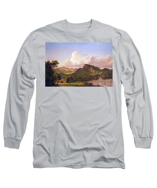 At Home On The Lake By Frederick Edwin Church Long Sleeve T-Shirt