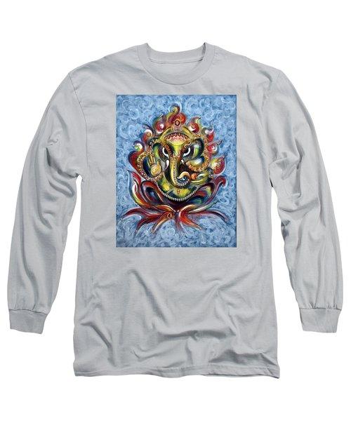 Aum Ganesha Long Sleeve T-Shirt by Harsh Malik