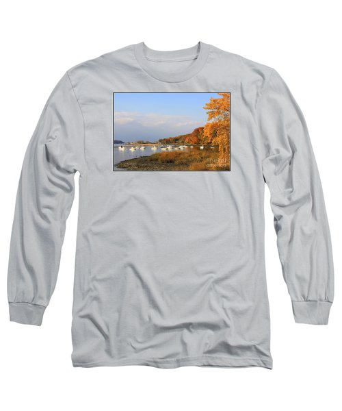 Autumn At Cold Spring Harbor Long Sleeve T-Shirt by Dora Sofia Caputo Photographic Art and Design